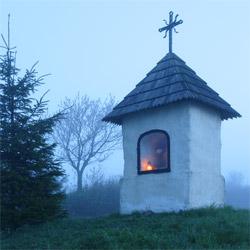Roadside shrine, Low Beskid