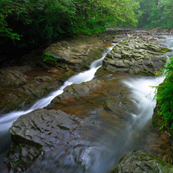 Nasiczne Stream, Landscape Park of the San River Valley, Western Bieszczady