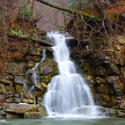 Wodospad nad Wołosatym, Park Krajobrazowy Doliny Sanu, Bieszczady Zachodnie